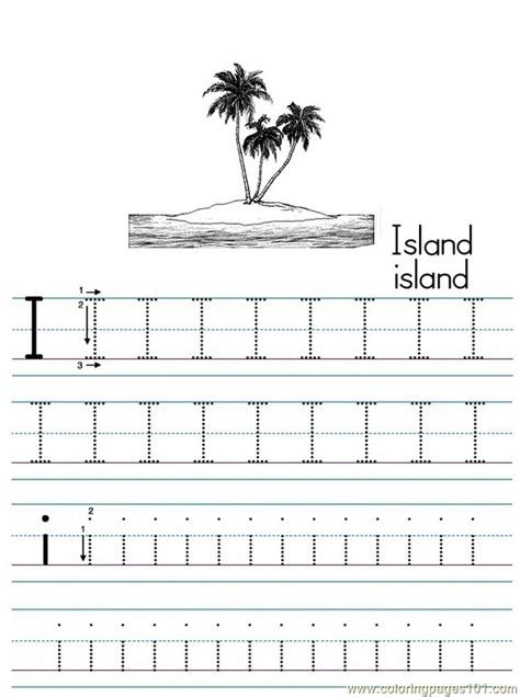 Alphabet Abc Letter I Island Coloring Pages 7 Com Coloring