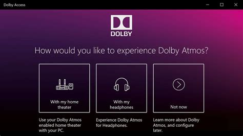 Dolby Access 2