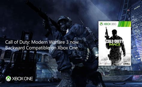 Call of Duty: Modern Warfare 3 now backwards compatible on