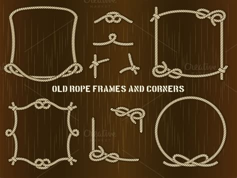 Old Rope Frames and Corners ~ Objects on Creative Market