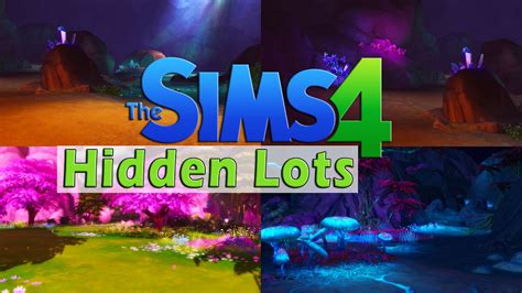 The Sims 4 I 👽 How to find HIDDEN PLACES 🌺🐟 - YouTube