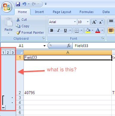 What is this mysterious side-column in Excel? - Super User